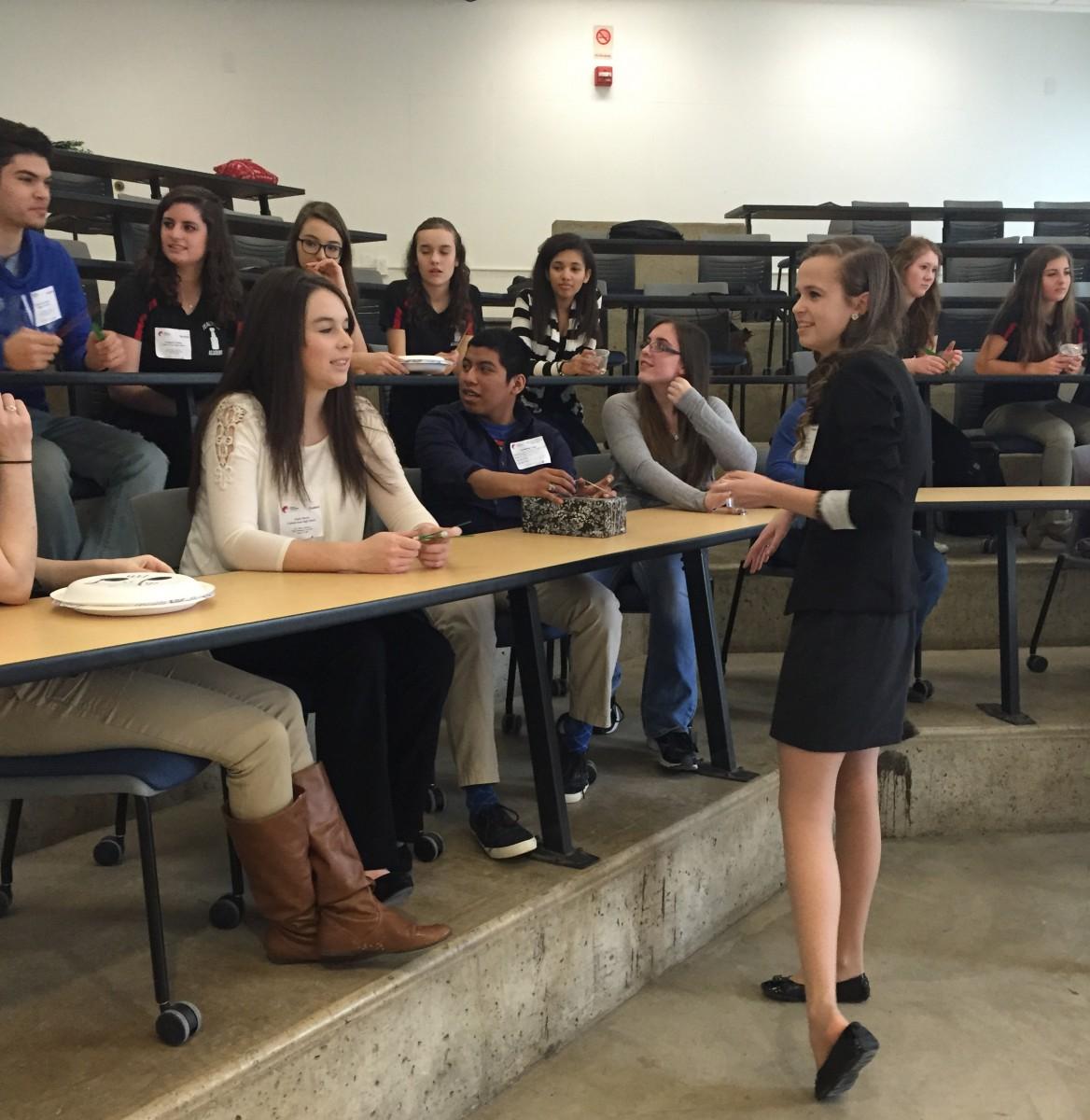 Milford students meeting
